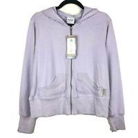 NWT Columbia Falls II Light Purple Full Zip Cotton Hoodie Size Large