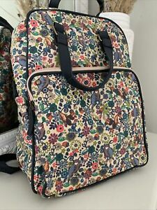 Monsoon Accessorize Rucksack Multi Coloured Floral Owl Squirrel Print Handle