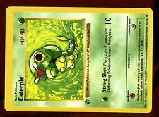 "POKEMON BASE English SHADOWLESS CARD 1ed N°  45/102 CATERPIE ERROR ""HP 40"""