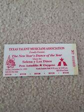 Selena Quintanillay los Dinos Laminated reprint ticket December 31, 1993