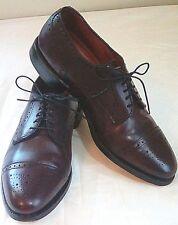 Allen Edmonds Sanford Cap Toe Punch Leather Oxfords Shoes Sz 7.5 D USA Made