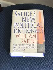 Safire's New Political Dictionary by William Safire Signed Hardcover