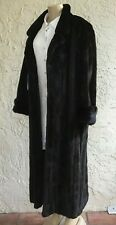 "Mink Fur Coat Designer Guy Laroche Paris Full Length 49"" BLACKGLAMA approx.SZ  L"