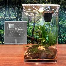 Transparent Acrylic Reptile Box Terrarium Small Pet Breeding Box Cage & Led Kit
