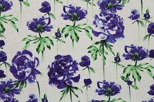 "SALE!!! 100% Cotton Makower ""Roses"" Print Craft Fabric Material (Dark Lavender)"