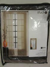 "JCPenney Home Studio Loop Top Panel Hudson 54"" x 95"" Brown Curtain Root Beer"