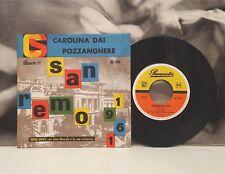"""NINO GINEX CON GINO MESCOLI E LA SUA ORCH. - CAROLINA DAI / POZZANGHERE 7"""" 45 EX"""