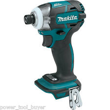 "Makita XDT09Z Brushless 1/4"" Impact Driver 18V Cordless 3-Speed Quick Shift"