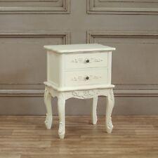 Style Français Shabby Chic Crème 2 tiroirs table de chevet