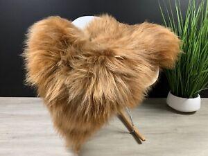 Copper Icelandic Sheepskin Rug Pelt ,  Sheepskin Seat Cover, Pet Bed Throw