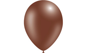 """Decotex Solid Chocolate Brown 11"""" Latex Balloons - Packs of 10, 25 or 50"""