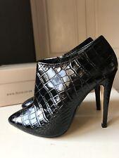 DUNE London Ladies Women High Heel Shoe Ankle Boot Black Leather Size 3 36