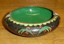 """Antique / Old Chinese Cloisonne Ashtray - 3 7/8"""""""