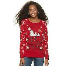 PEANUTS SNOOPY CHRISTMAS UGLY SWEATER JUNIORS SIZE XS S M L XL 2X NEW!