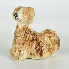 """Vintage Philip Laureston 2 1/4"""" hand tooled Afghan Hound Dog Figure c1970-80s"""