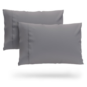 Cosy House Luxury Bamboo Pillowcase Set of 2 Standard or King Size Pillow Cases
