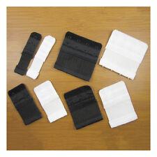 BRA EXTENDERS BLACK & WHITE 1/2/3/4 HOOK ELASTICATED EXTENSION NO SEWING UK