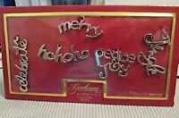 GORHAM Silver-Plated Set of Five Package Ties or Christmas Holiday Ornaments NIP