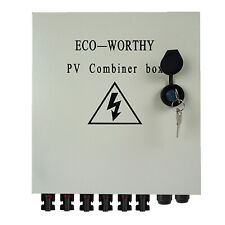 6 String PV Combiner Box Off Grid System Kit Solar Panel Lightning Protection