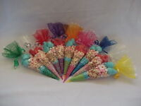 Cone Cello/Cellophane Party Sweet Candy Gift Empty Bags & Twist Ties Large