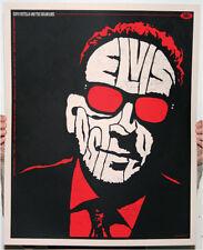 ELVIS COSTELLO 09  SILKSCREEN GIG POSTER S/N ED SLATER