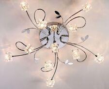 Modern Crystal Cube Ceiling Light Pendant Lamp Lighting Fixture Chandelier