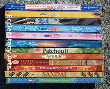 Hem - Satya Incense Stick Set 12 Boxes  = 96 Incense Sticks Sampler Appr.