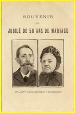 cpa SOUVENIR du JUBILÉ de 50 ans de MARIAGE Mr et Mme VANGOETHEM-VERMEIREN