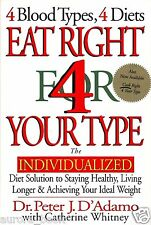 Eat Right 4 Your Type by Dr Peter J D'Adamo For Blood Type New Hardcover WT22899