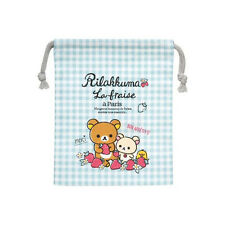 San-X Rilakkuma Bendo Box Lunch Bag - Strawberry in Paris Theme (CT78101) 15c