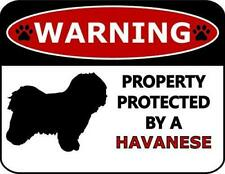 Warning Property Protected by A Havanese Dog Sign Sp374