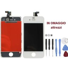 Vetro Touch screen con Display LCD originale x iPhone 4S BIANCO ATTREZZI OMAGGIO