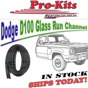 Fits 68 69 70 71 72 73 74 DODGE D100 Pickup Truck Glass Run Channel LH or RH