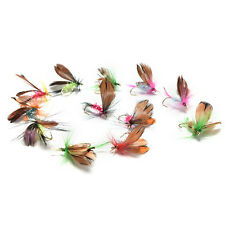 Pop 12pc/set Fishing Flies Trout Tackle Accessories Lures Butterfly Barb Hook O
