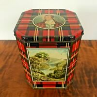 VINTAGE HUNTLEY & PALMERS ROBERT BURNS TARTAN BISCUIT SHORTBREAD TIN Scotland