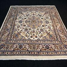 Orient Teppich Beige 238 x 197 cm Perserteppich Floral Handgeknüpft Carpet Rug
