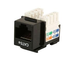 100 x RJ45 Compatible Cat5e Faceplate Lan Ethernet Network Module Keystone Jack