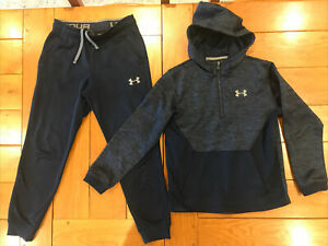 Under Armour Blue Childs Tracksuit Size Medium Youth