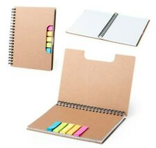 Ring Binder Lined Notebook Eco Cardboard Post Notes Sticky Note Set Index Tabs