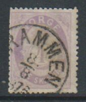 Norway - 1875, 4sk Bright Mauve Violet stamp - Used - SG 42