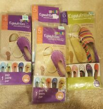 Lot Espadrille Wedges 4 Pairs of Soles! Toddlers sizes 4, 5, 5, Adult Size 6