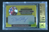 2008 Razor Signature Buster Posey Metal Gold BGS 9.5 Gem Mint Auto 10 #/28