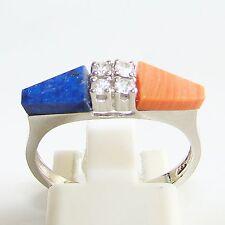 Ring Gold 585 Koralle LapisLazuli Spinell Goldringe 14 kt