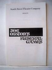 FUNERAL GAMES Playbill JOE ORTON /JOHN CLARKSON South Street Theatre NYC 1979