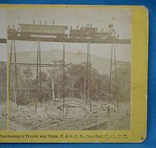 1860/70s Stereoview 2042 Frankenstein Trestle Railroad Train P&ORR Kilburn USA