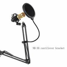 Mic Microphone Suspension Boom Scissor Arm Stand Holder Studio Broadcast KTV mfe