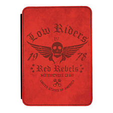 Rojo Rebels Moto Riders Kindle Paperwhite Toque PU Funda Libro de Piel