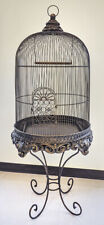 Decorative Bird Cage with Stand Bronze Imperial - Birdcage with Stand Bronze