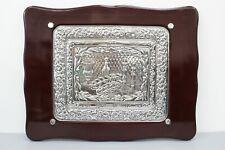 Judaica Sterling Silver & Wood Shabbat Challah Bread Tray