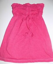 Junior's Size Small Hollister California Solid Pink Summer Baby Doll Tube Top